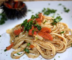 Ricette Ischitane - Spaghetti ai ricci di mare