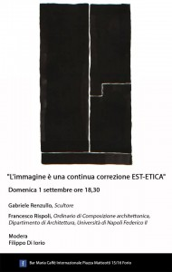 'L´immagine è una continua correzione EST-ETICA': ne parla Gabriele Renzullo al Bar Maria di Forio d'Ischia