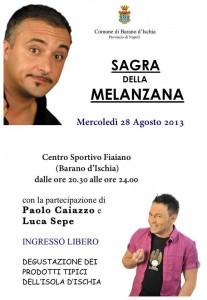 Sagra della Melanzana a Fiaiano d'Ischia con Luca Sepe e Paolo Caiazzo