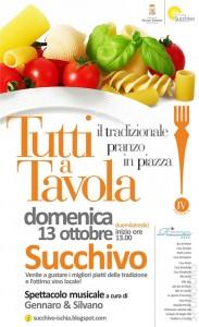 """A Succhivo d'ischia torna """"Tutti a Tavola - Il Grande Pranzo della Domenica in Piazza"""""""