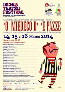"""All'Ischia Teatro Festival in scena """"Il medico dei pazzi"""""""