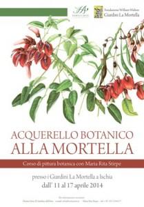 La pittura botanica entra ai Giardini La Mortella di Forio d'Ischia