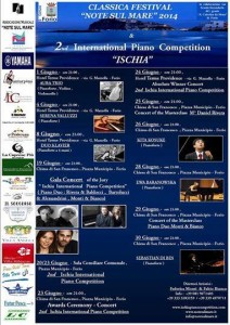"A Forio d'Ischia il Classica Festival Note sul Mare 2014 e l' International  Piano Competition ""Ischia"""