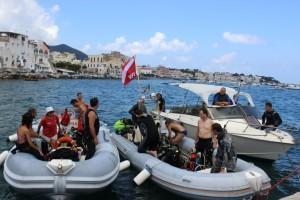 Ischia, la Festa ecosostenibile - Ripulita la baia dopo Sant'Anna