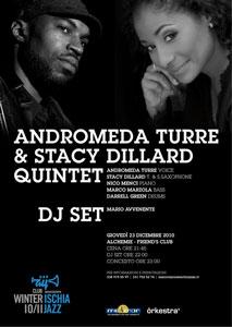 Eventi 2010 - Andromeda Turre & Stacy Dillard Quintet al Friends Club Ischia
