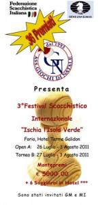 Eventi 2011 - Terzo Festival Scacchistico Internazionale - Open A