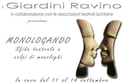"Ischia - I Giardini Ravino presentano ""Monologando"""
