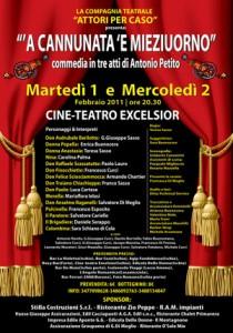 Eventi 2011 - Gli Attori per Caso presentano A Cannunata 'E Mieziuorno