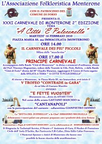 Ischia, Forio - XXXI Carnevale di Monterone, martedì 16 febbraio 2010