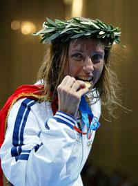 Ischia - Valentina Vezzali saluta gli sportivi isolani