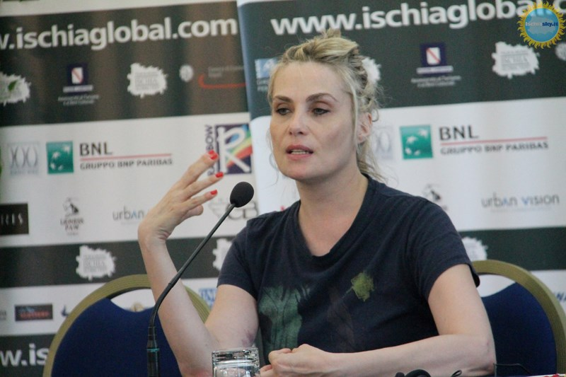 Emmanuelle Seigner all'Ischia Global