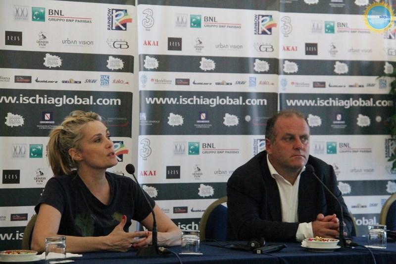 Emmanuelle Seigner all'Ischia Global