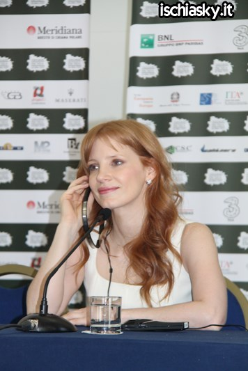 Jessica Chastain all'Ischia Global