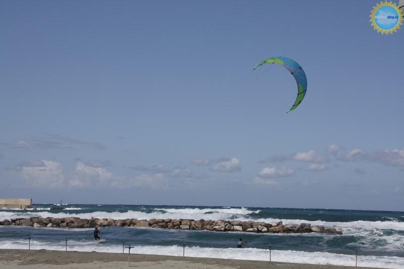 Kitesurf sull'isola d'Ischia