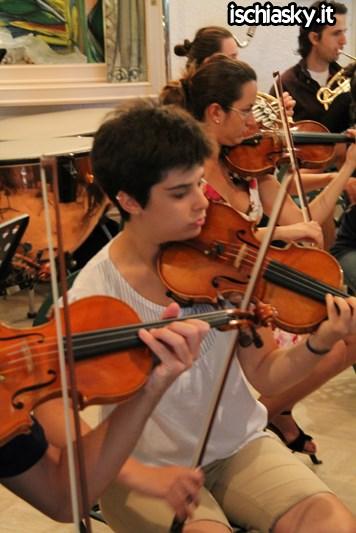 Prove dell'Orchestra Giovanile Italiana ai Giardini La Mortella