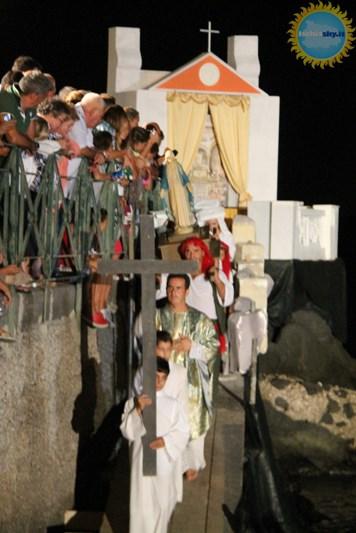 Rappresentazione dell' attacco saraceno ad Ischia
